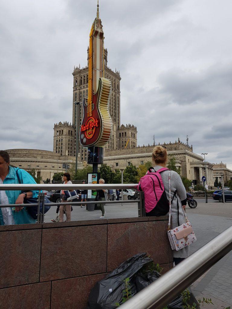 Dobry Kwartet w Warszawie, widok na Pałac Kultury i Nauki
